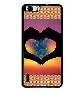 PrintVisa Designer Back Case Cover for Huawei Honor 6 Plus (Symbol of Love Ethnic Pattern)