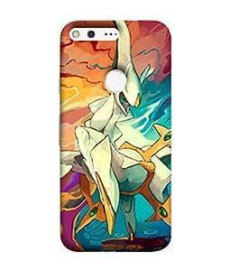 PrintVisa Designer Back Case Cover for Google Pixel (Painted animated design flowers nature)