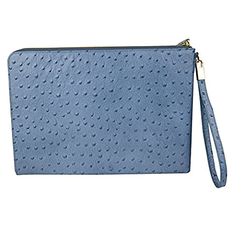 DJ-16009 parfait portefeuille bleu avec fermeture éclair d