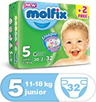 Molfix Anti Leakage Comfortable Junior Baby Diapers, 11-18 kg, 32 Count (5047421)