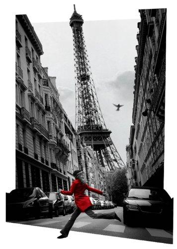 Pyramid International Linsenraster-Poster La Vesta Rouge