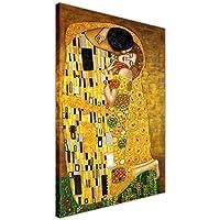 """Toile, sujet: Le Baiser de Gustav Klimt, huile sur toile, art New-Age, reproduction, décoration géniale pour la maison, Toile, 9- 40"""" X 30"""" (101CM X 76CM)"""