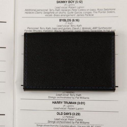 YDC05 Bester Visitenkarte-Halter-Leder-Karten-Kasten Ausgezeichneter Designer durch Y&G CC1006-Blau