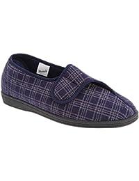 Sleepers - Zapatillas de estar por casa anchas con cierre de velcro Modelo Julian II Hombre caballero