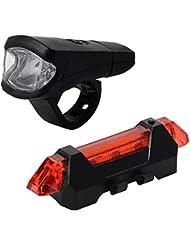 XCSOURCE Vélo VTT Lampe Frontale Avant + Rechargeable Double Vélo Avertissement Lampe Arrière CS239