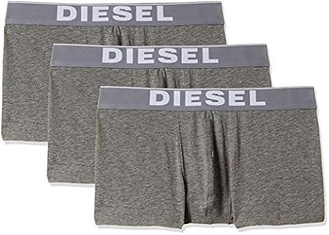 Diesel Herren Boxershorts Umbx-Korythreepack Boxer-Short, Grau (Dark Grey Melange 96X), Large