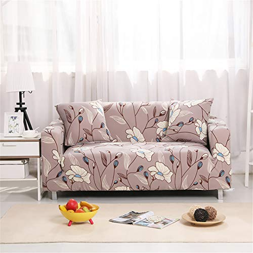 SHFOLSFH 1/2/3/4 Seater Flexible Printing Sofa Cover Elastic Stretch Couch Cover Love-Seat Sofa Cover Home Decoration Cushion Pillow Case A1111 4 seat 235-310cm (Sofa Love Seat Cover Rot)
