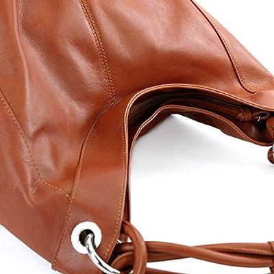 modamoda de - dames italiennes en cuir/cuir Nappa sac à main Z18, Präzise Farbe (nur Farbe):Cognac