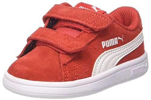 Puma Smash v2 SD V Inf, Unisex-Kinder Sneakers, Rot (High Risk Red-Puma White), 20 EU (Baby-mädchen High-top-schuhe Für)