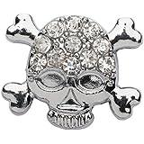La Loria Charm - Abalorio de Mujer o pequeña Skull Blink Cráneo Brillar - Elemento para Pulseras o Cordones