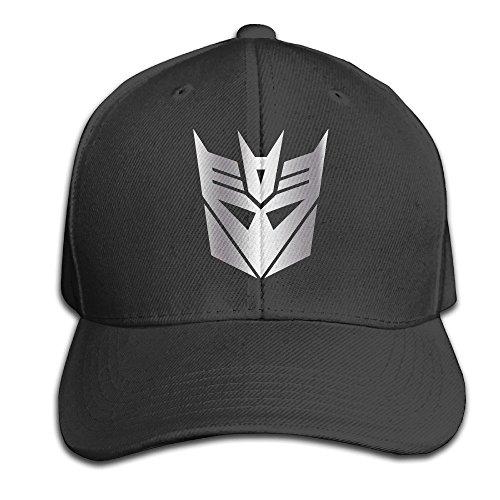 Hittings Black Decepticon From Transformer Platinum Men Adjustable Peaked Baseball Caps Black