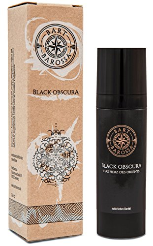 Bartbarossa Black Obscura Bartöl (30ml) – natürliche Premium Bartpflege für Männer mit würzigem Patchouli, Muskat, Vanille, Zedernholz Duft – vegan, bio, Made in Germany