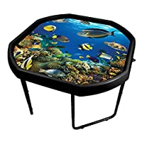 Simpa Childrens Kids Tuff Spot Lime Green Mixing Play Tray + Deep Sea Adventure Mat Insert with Height Adjustable Stand