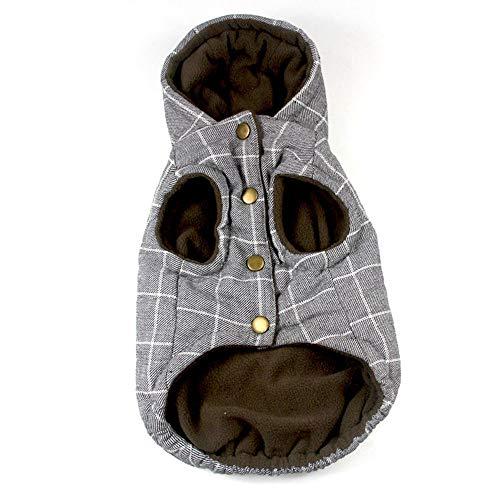 Yzibei Pullover Hund Hund Jacke Wasserdicht Mantel Winddicht Haustier Weste Warme Puppy Kleidung Reversible Britischen Stil Plaid Winter Mäntel Kaltes Wetter Jacken Kleidung für Hunde (Größe : XL) -