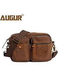 Buyworld Augur Fanny Pack Belt Bag Men Canvas Vintage Small Waist Pack Pouch Waist Leg Hip Bags Fashion Shoulder...