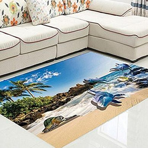 xiaolin Teppiche Teppiche Bereich 3D Blended Teppich Hall rutschhemmend Bettkästen Kinder Schlafzimmer Wohnzimmer Küche geschnitten werden können Mats Super Soft Teppich, Materialmix, 6, 80*120CM