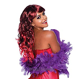 NEW LONG RED WIG SEXY TEMPTRESS FANCY DRESS (peluca)