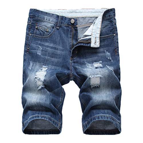 53db17025f6a7 Pantalones Cortos De Verano para Hombre Pantalones Cortos Hommes Jean  Bermudas Skate Board Harem Fashion Jean