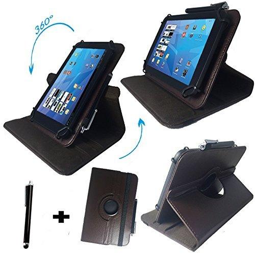 Street Hip Scanner (Tablet Tasche für Hip Street Phantom 2 Schutz Hülle Etui Case + Touch Pen – Braun 10.1 Zoll 360_)