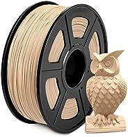 Wood Filament PLA 1.75mm, SUNLU Wood PLA Filament Imprimante 3D, Basse Impression Température, Précision Dimen