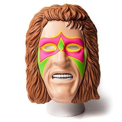 Wrestling WWE Offiziell - The Ultimate Warrior Kostüm Maske Kostüm - Over 20 Jahre Alt Collectionneurs Stück Waren - W.Elastischer Band