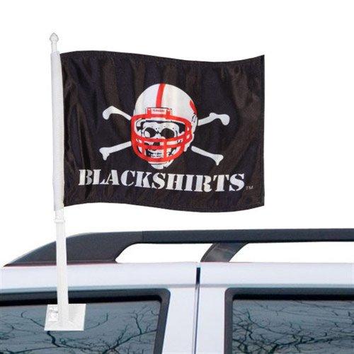 Nebraska Cornhuskers Tailgater Mat (Fremont Die NCAA Nebraska Cornhuskers Schwarzhemden KFZ Flagge-Schwarz)