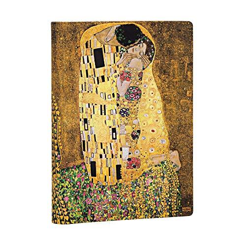 Paperblanks Diari a Copertina Rigida Centenario di Klimt - Il Bacio | Righe | Midi (130 × 180 mm)