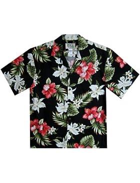 KY's | Original Camisa Hawaiana | Caballeros | 3XL | Manga Corta | Bolsillo Delantero | Estampado Hawaiano | Flores...