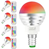 (4 Pack)RGBW Lampada Bulbo a LED con IR Telecomando,Sunpion® 3W 16 Cambia Colore LED lampadina Bulbo,Celebration per Natale,Per Decorazione (RGBW 3W E14 4Pcs New)