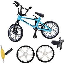 Gazechimp Mini Vélo Tout Terrain avec Pneus de Rechange Set Jouet à Doigt Bicyclette en Alliage Cadeau Collection Enfants