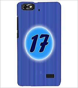 PrintDhaba Numerology Number 17 D-2573 Back Case Cover for HUAWEI HONOR 4C (Multi-Coloured)