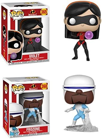 FunkoPOP IncRouge ibles 2: Violet  Frozone – Stylized Disney Pixar Vinyl 2 Figure Bundle Set NEW | Stocker