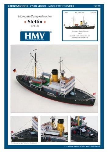 Aue Verlag HMV 3327papermodel steamicebreaker Stettin -