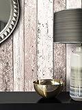 Holz-Muster-Tapete Vlies Braun Beige Edel | schöne edle Tapete im Holzwand-Design | moderne 3D Optik für Wohnzimmer, Schlafzimmer oder Küche inkl. Newroom-Tapezier-Profibroschüre mit super Tipps!