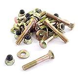 Ampel 24 Trampolin Schrauben-Set für Trampolin Rahmen T-Stück, 12 Schrauben M8 Länge 53 mm
