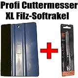 Cúter pantalla Cuchillo 1x Soft Rasqueta XL–Raspador Set