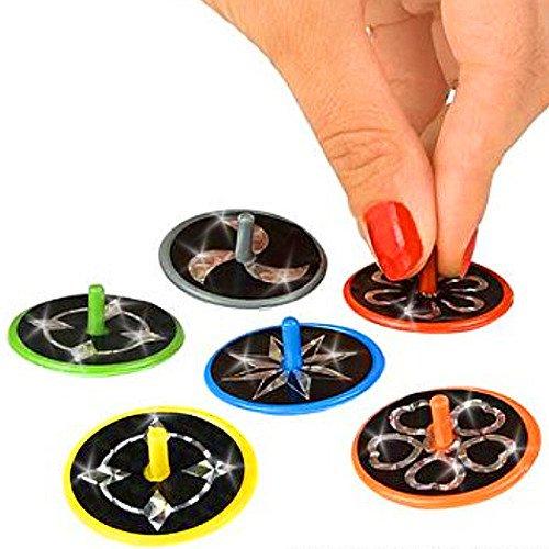 Preisvergleich Produktbild German Trendseller® - 12 x Laser Kreisel für Kinder  -NEU-  Kindergeburtstag  Mitgebsel  12 Stück