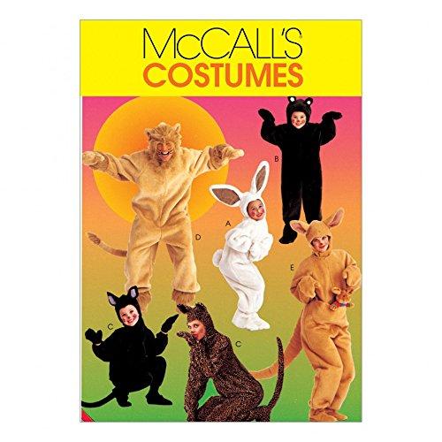 McCall 's Erwachsene & Kinder Leicht Schnittmuster 6106Tierkostüm Kostüme