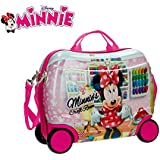 MWS3063 4751051 Trolley rígida cavalgable en ABS de Minnie Mouse 41x34x20 cm