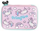 Fringoo Federmappe, Mädchen /Jungen, Hartschale, niedliches geprägtes Design, ordentliche Aufbewahrung von Stiften, (mit Einhörnern und Katzen)