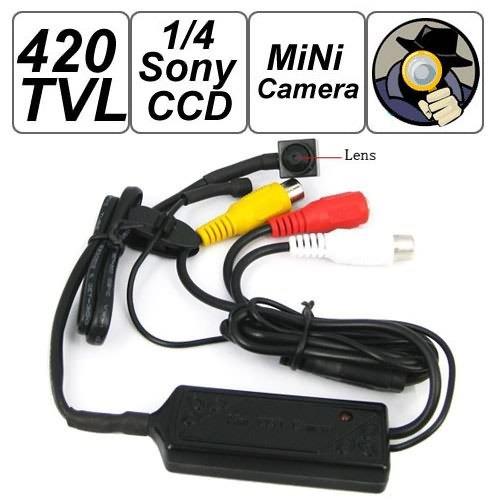 Mini Kamera–bangweier 420TVL 1/10,2cm Farbe Sony Chip CCD-Kamera unterstützt Video und Audio-Ausgang (Ccd-chip)