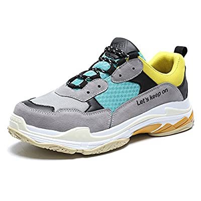 Madaleno Mens Running Shoes Causal Sports Sneakers Athletic Walk Gym Lace-Up Trainers