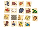 Produkt-Bild: Goki HS217 - Memospiel - Tiere im Holzkasten