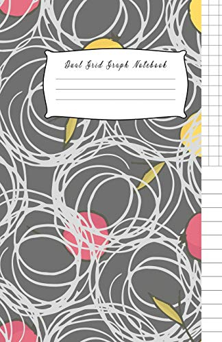 Dual Grid Graph Notebook: Composition Notebook Half Graph 4x4 Half Lined Paper Notebook on same page, Squared, Science, Maths, Lab Notebooks, Diary ... Journal Organizer.100 pages: 5.5 x 8.5 Inch. - Dual-tray Storage