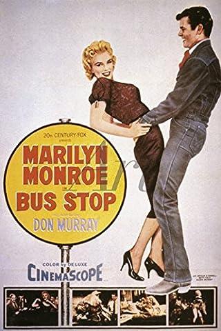 Artland Wandbilder selbstklebend aus Vliesstoff oder Vinyl-Folie Filmszene Bus Stop, 1956 Film & TV Stars Illustration