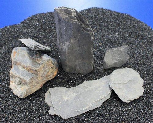 Nano Stone 'Schiefer · schwarz' - Set mit 5 bis 7 Steinen
