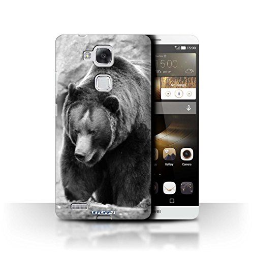 Stuff4 Hülle / Hülle für Huawei Ascend Mate7 / Bär Muster / Zoo-Tiere Kollektion
