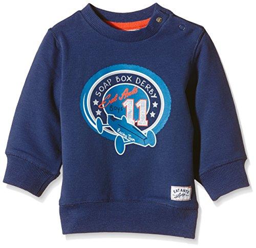 Sanetta Baby - Jungen Sweatshirt 113554, Gr. 80, Blau (blue ocean 50166)