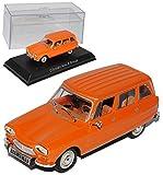 alles-meine.de GmbH Citroen AMI 8 Break Orange Kombi 1969-1978 1/43 Norev Modell Auto mit individiuellem Wunschkennzeichen