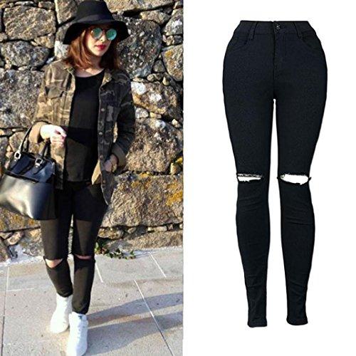 Luoluoluo jeans strappati donna pantaloni da donna pantaloni jeggings skinny da donna elasticizzati, strappati (b, s)